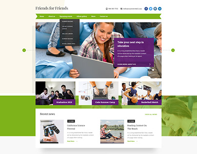Website Design for Highschool