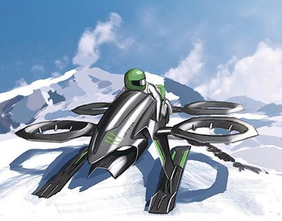 Monster Quadrotor Snow Mobile