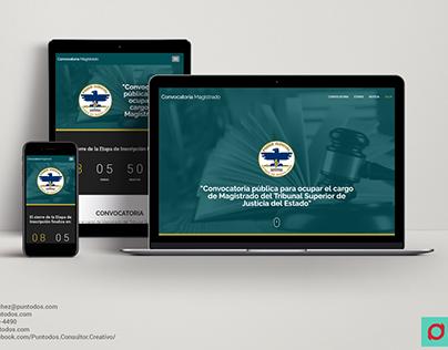 Diseño Web | Convocatoria para Magistrado del TSJ
