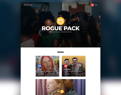 Website home page design for roguepack.org