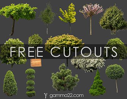 FREE Tree&Bush CUTOUTS