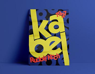 Poster and Brochure design for Kabel