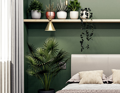 Bedroom in Green