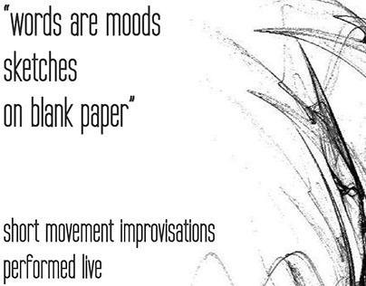 words are moods - sketches - on blank paper