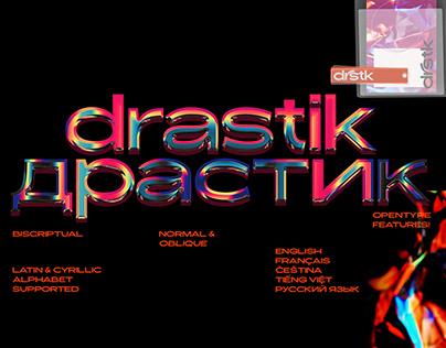 Drastik (Драстик) Typeface - Latin & Cyrillic Support