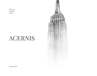 Acernis. Real estate website