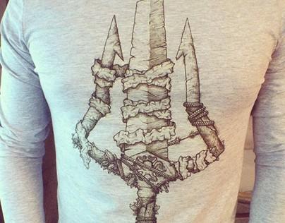 T-shirt's hand made prints
