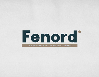 Fenord - Old School Sans Serif (Free Download)