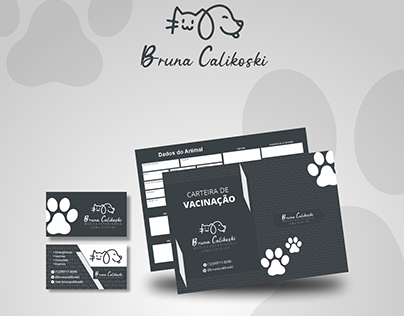 Kit para Veterinária , Cartão de visita + Bloco