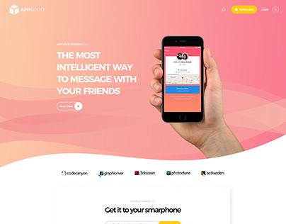 App Landing Page Design - UX/UI