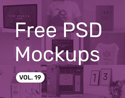 Free PSD Mockups vol. 19