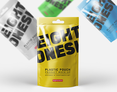 Plastic Pouch Mock-Up Template ( Free Download )
