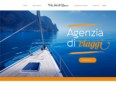 Le Terre di Bacco | Web Design - Landing Page 2nd vers.