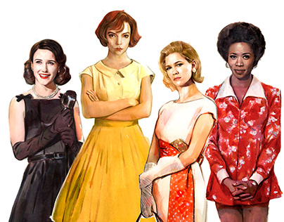 Vintage Fashion Characters
