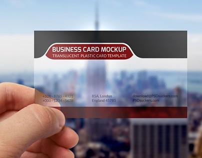 Transparent business card mockup template PSD