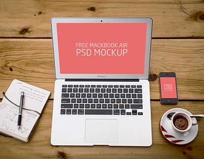 Free PSD Laptop and Phone Mockup