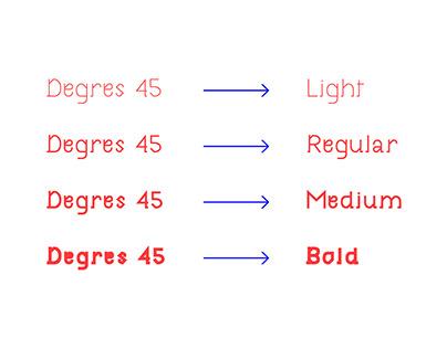 Degres45 Font