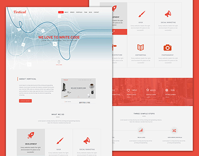 Vertical Website Design