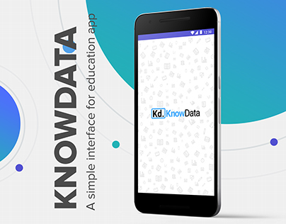 Knowdata-education app User Interface Design