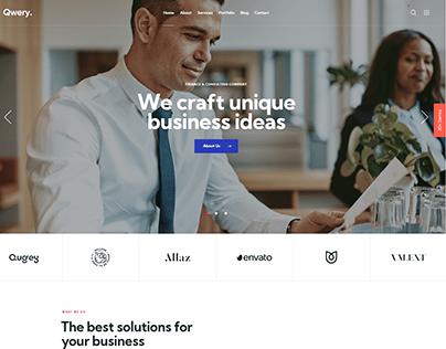 Qwery - Multi-Purpose Business WP Theme: Corporate