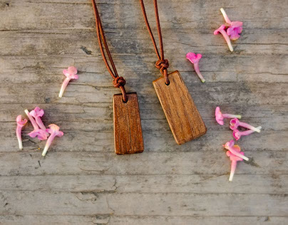 Wood Work - wooden necklace