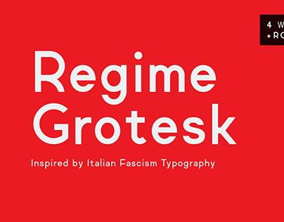 Regime Grotesk Typeface