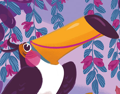 Ultra Violet Toucan