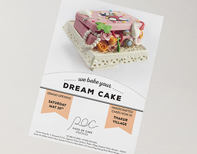 Piece of Cake Bakery Flyer and Packaging