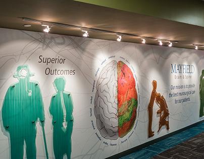 Environmental Graphic Design: Mayfield Brain & Spine