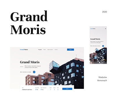 "Hotel ""Grand Moris"" - Web Design Concept"