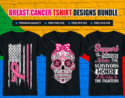Breast Cancer Awareness T-Shirt Designs Bundle