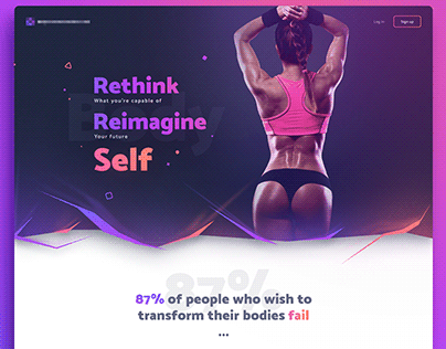 Fitness - Landing page