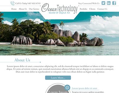 Ocean Technology - UI/UX, Web Page Design