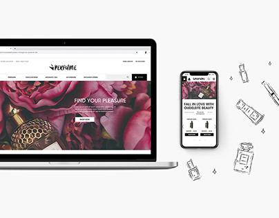 Web Design - Perfume Shop