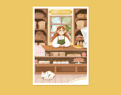 Anne's Bakery illustrations