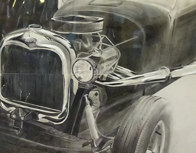 Personal Charcoal Project- RAT ROD!
