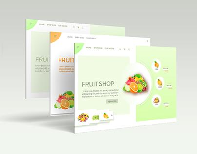 Fruits online store website UI