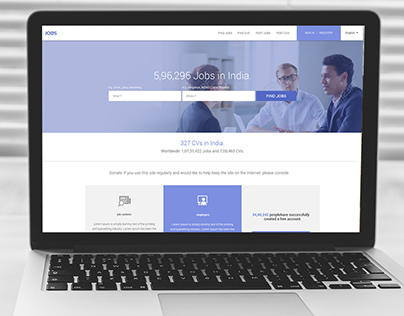 Jobs  site Homepage