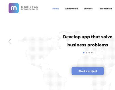 Web design concept for Ui/Ux Design studio