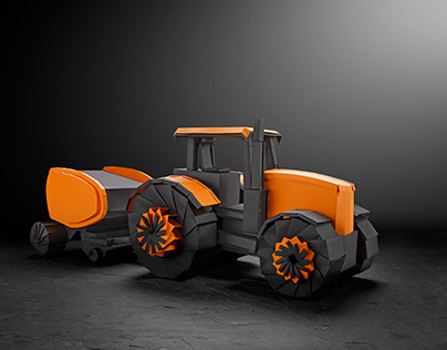 Origami Commercial- Paper Tractor Kubota