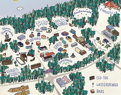 Festival Map - Wilde Möhre 2015