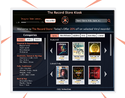 Record Store Kiosk UI Design