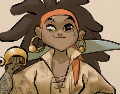 Character design. Pirata!!