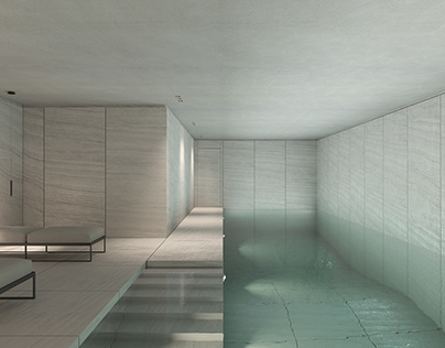 Indoor Pool in Switzerland by Philippe Meyer Architecte