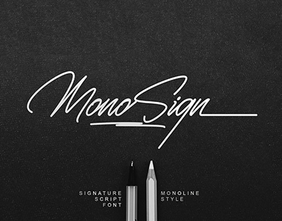 FREE | MonoSign - Signature Font