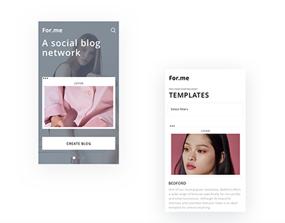 For.me — Social Blog Network