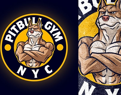 GYM Mascot logo design.