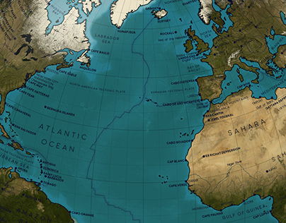 An Animated Map of Earth