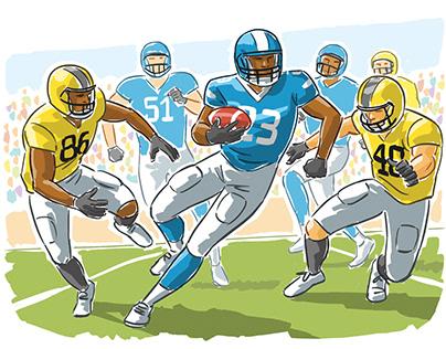 Sports Book Illustrations