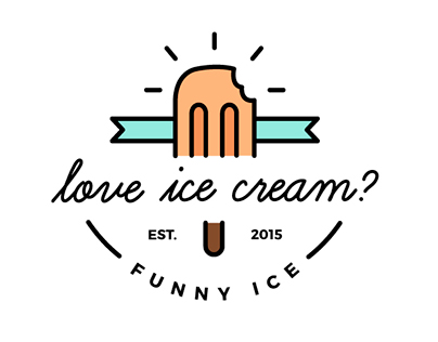 'Buena Cream' - Ice cream shop branding identity
